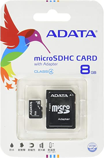 Patriot Signature 8 GB MicroSDHC Class 4 Flash Memory Card with Standard SD Adapter PSF8GMCSDHC43P