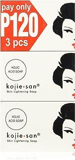 3 Bars Kojie San Kojic Acid Soap 100g per bar original kojie san bleaching soap for dark skin and lightening and brightnes...