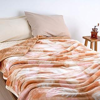 西川産業 東京西川 ポリエステル2枚合わせ毛布 シングル 洗える 柔らか 暖か 合せ毛布 7284 MD9051/ベージュ[BE]5000 シングル