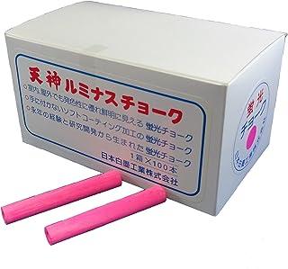 日本白墨工業 ルミナスチョーク 100本入り ピンクLCH-1