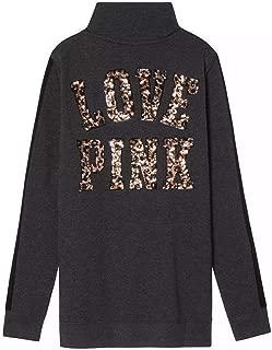 Pink Cheetah Bling Sweatshirt, Size XS
