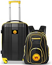 """Denco Washington Football Team 2-Piece Luggage Set, Includes 21-inch Two-Tone Hardcase Spinner and 19"""" Laptop Backpack"""