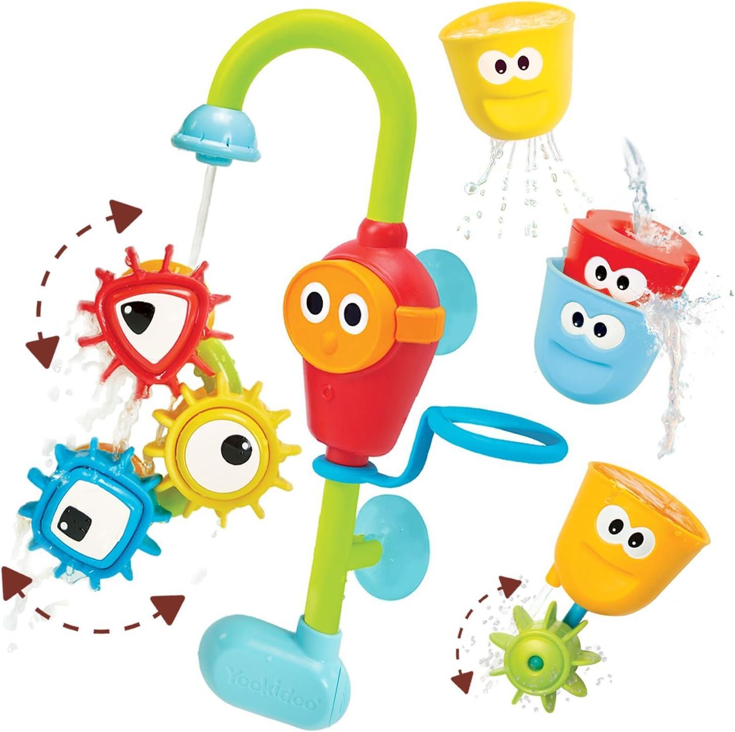 Yookidoo - Grifo encaja y gira pro - juguete baño para bebé; juego de agua; juguete bañera para niños de entre 1 y 6 años