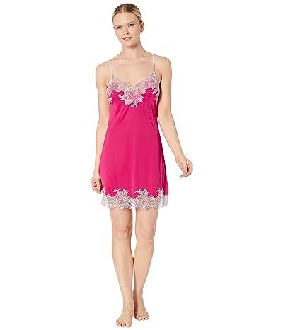 Natori Enchant Lace Trim Chemise (Pink Raspberry) Women