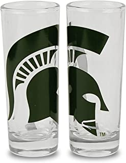 Logo Square Shot Glass Great American Products Michigan State Spartans 2oz