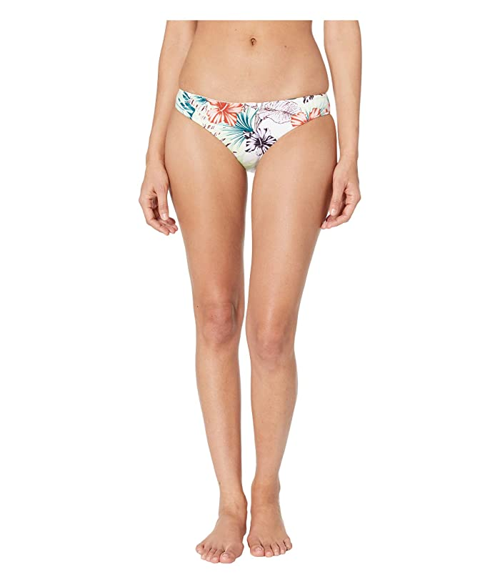 THE BIKINI LAB Tropical Oasis Cinched Back Hipster (White) Women