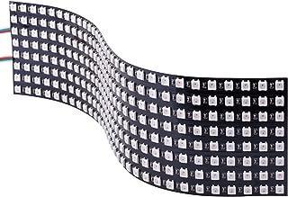 WS2812B Pixel Matrix, STARTO 8x32cm 256 Pixels Digital Flexible LED Panel Programmed Individually Addressable Full Dream Color DC5V SWS03