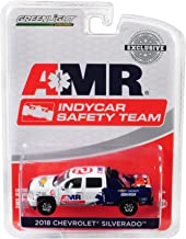 Greenlight 2018 Chevrolet Silverado Pickup Truck AMR IndyCar Safety Team with Safety Equipment in Truck Bed Hobby Exclusive 1/64 Diecast Model Car