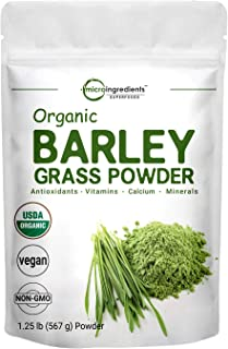 Sustainably US Grown, Organic Barley Grass Powder, 20 Ounce (1.25 Pounds), Rich Fibers, Immune Vitamins, Mi...