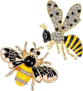 B Baosity - 2 spille da donna a forma di ape con bottone, per gioielli, sciarpe