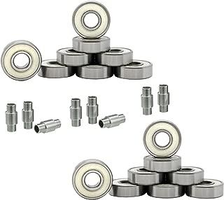 Hockey Bearings ABEC 9, 7, 5 Inline Roller Speed Package 16 Bearings and 8 Spacers Kit