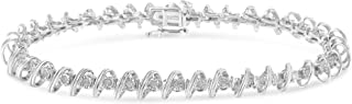 Sterling Silver Rose-Cut Diamond Tennis Bracelet (0.5 cttw, I-J Color, I3 Clarity)