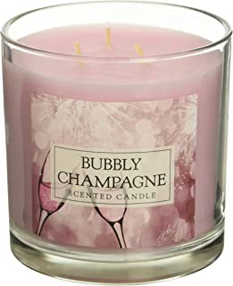 DII Home Traditions 3-Wick Evenly Burning Highly Scented 4x4 Large Jar Candle 45+ Hour Burn Time (14.5 oz) -Bubbly Champagne Scent