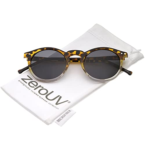 b42c646f4c4a8 Classic Lux P3 Shape Keyhole Bridge Metal Rivet Circle Round Sunglasses