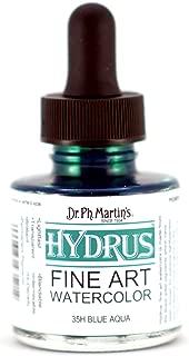 Dr. Ph. Martin's 400250-35H Hydrus Fine Art Watercolor, 1.0 oz, Blue Aqua (35H)