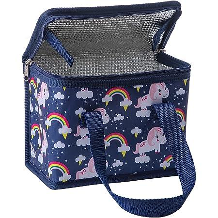 TEAMOOK Sac Repas Lunch Bag Sac à Déjeuner Sac Fraîcheur Portable Isotherme Licorne Bleue 22cm X 16cm X 12cm