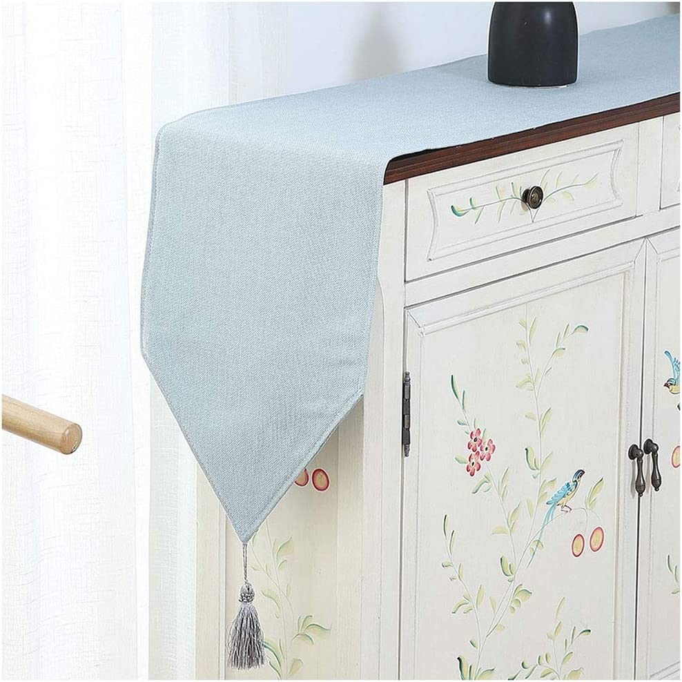 FTLHONG Table Runner Tablecloth Decor Solid Color Tassel specialty shop New Free Shipping