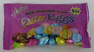 milk chocolate flavored Easter eggs candy