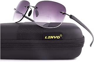 LINVO Bifocal Reading Sunglasses Rimless Sports Style Outdoor Sun Readers Men Women