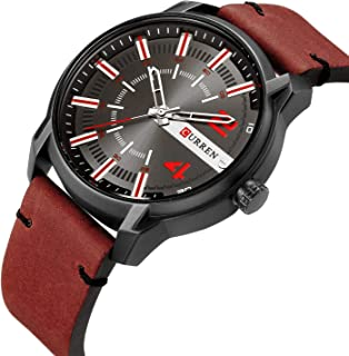 Curren Casual Watch For Men Analog Leather - 8306