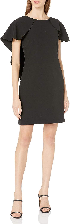 Nanette Lepore Women's New Free Shipping Sheath Dress Cap W Flutter Max 48% OFF Sleeve