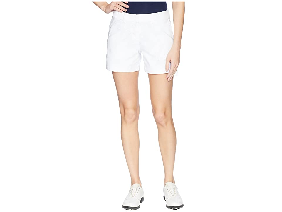Nike Golf Woven 4.5 Sub Print Flex Shorts (White/Wolf Grey/White) Women