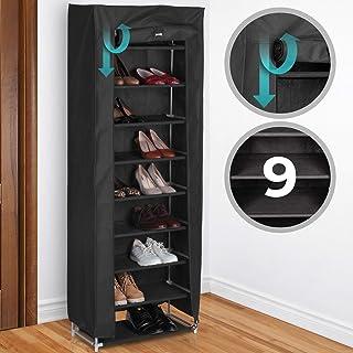 e6f085b44f268a Miadomodo Étagère à Chaussures | pour 40 Paires de Chaussures, 9 Niveaux,  162 x