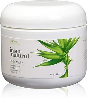 Facial Rose Mask - With Vitamin C, Hyaluronic Acid, Niacinamide, Aloe Vera & More - Best Skin Brightening & Moisturizing B...