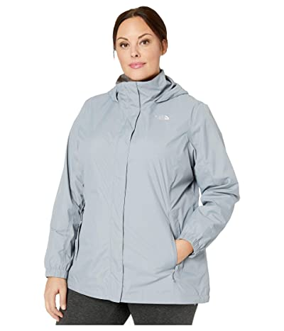 The North Face Plus Size Resolve 2 Jacket (Mid Grey) Women