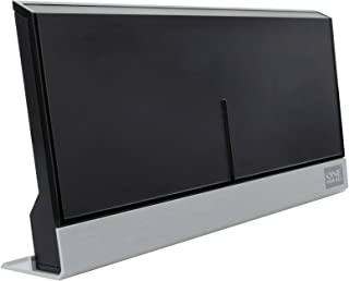 One For All Amplified Indoor Digital TV Aerial - Ready to receive Freeview and Analogue TV Signals within a range of 15 miles - Full HD ready and 4K Ultra HD compatible- HDTV Antenna – UHF/VHF - black - SV9385