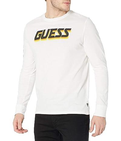 GUESS Riso Long Sleeve Logo Tee