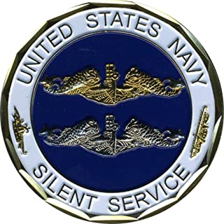 Eagle Crest US Navy Silent Service Coin Collectible Coins Veteran Gifts for Men and Women