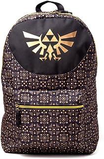 Bioworld - Difuzed Nintendo NINTENDO Legend of Zelda All-Over Pattern Print Backpack, Gold/Black (BP111577ZEL) Sac à Dos L...