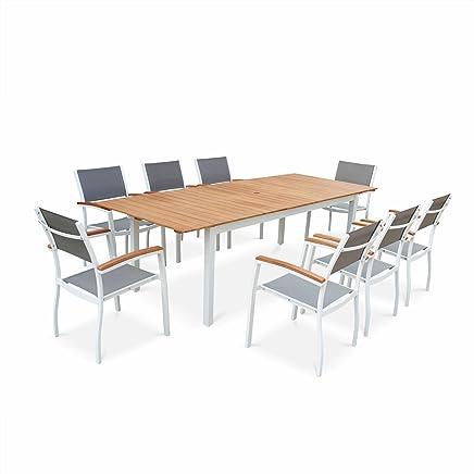 Amazon.fr : Table Jardin Aluminium Avec Rallonge : Cuisine & Maison