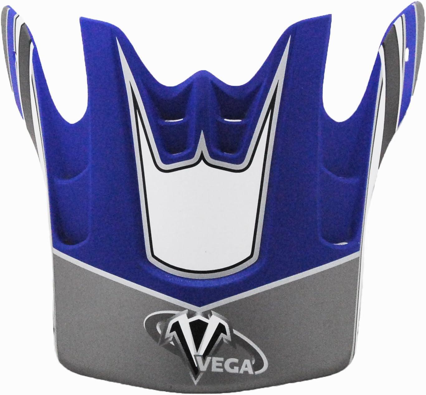 Light Blue Vega Flat Light Blue Graphic Replacement Visor for Mojave Off-Road Helmet