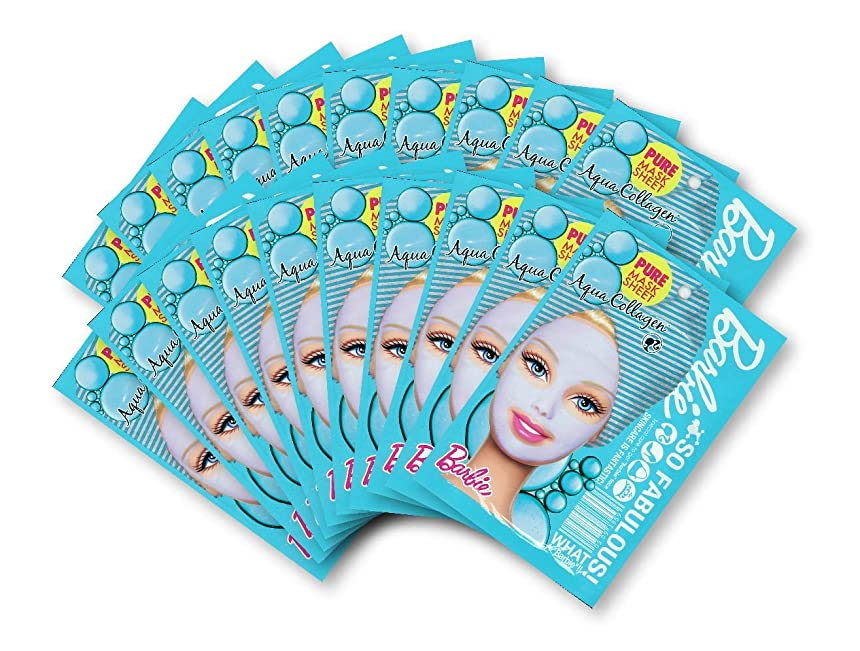 知性足首血バービー (Barbie) フェイスマスク ピュアマスクシートN (コラーゲン) 25ml×20枚入り [弾力] 顔 シートマスク フェイスパック