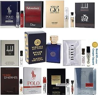 Pilestone's Choice: 12 Cologne Samples for Men (Designer perfume samples, including Hugo Boss, Armani Absolu, Valentino, Dior Fahrenheit, Prada)