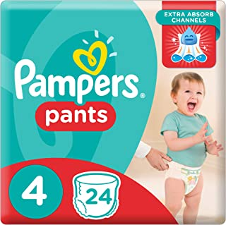 Pampers Pants Diapers, Size 4, Carry Pack - 9-14 kg, 24 Count