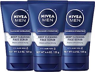 NIVEA Men Original Deep Cleaning Face Scrub 4.4 Ounce (Pack of 3)