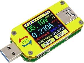 MakerHawk UM34 USB 3.0 Multimeter USB Voltmeter Ammeter USB Voltage Current Battery Power Capacity Charger Temperature Digital Meter Tester Cable Resistance USB Load Tester Color LCD Display