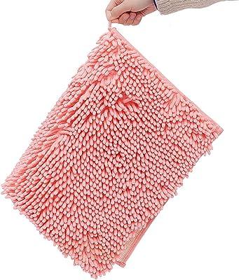 SKYGC Alfombras de baño Alfombrilla Antideslizante Alfombras de baño de felpilla Suave para Cuarto de Ducha Lavable a máquina de Secado rápido,A08,40 * 60cm