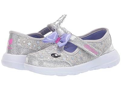 SKECHERS KIDS Sport Go Walk Joy 302095N (Infant/Toddler/Little Kid) (Silver/Lavender) Girl