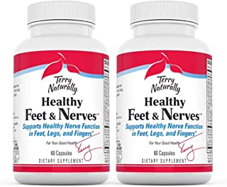Terry Naturally Healthy Feet & Nerves (2 Pack) - 60 Vegan Capsules - Nerve Function Support Supplement, Contains B Vitamin...