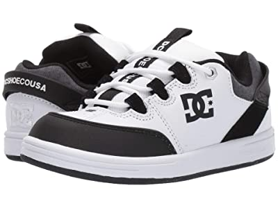 DC Kids Syntax (Little Kid/Big Kid) (White/Black) Boys Shoes