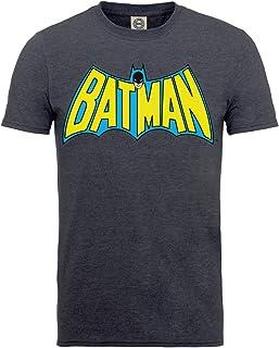 DC Comics Men's DC0001141 Official Batman Retro Logo T-Shirt