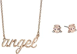 Angel Necklace & Stud Earrings Set