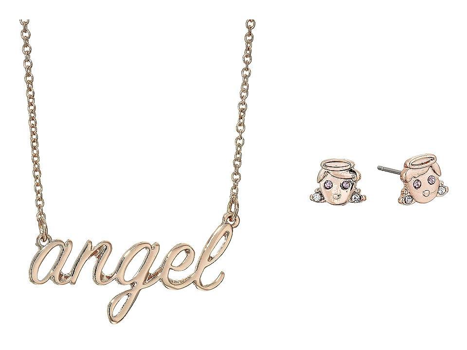 Betsey Johnson - Betsey Johnson Angel Necklace Stud Earrings Set