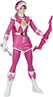 Power Rangers Mighty Morphin Pink Ranger Morphin Hero 12-inch Action Figure Toy with Accessory, Inspired by The TV Show