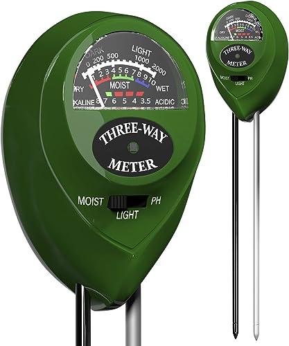 Trazon Soil pH Meter 3-in-1 Soil Tester Moisture, Light, pH, Meter Tool for Garden, Farm, Plant, Outdoor, Indoor, Law...