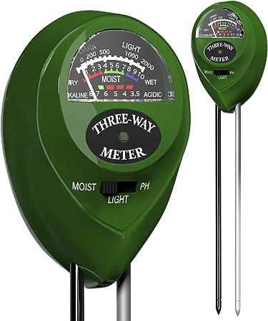 Trazon Soil pH Meter 3-in-1 Soil Tester Moisture